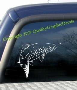 9x7 cut vinyl TROUT fly FISHING decal VERY NICE DECAL