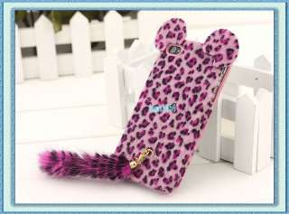 Deluxe Leopard with Long Tail Hard Case Cover For Apple iPhone 4 4G 4S