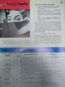 Vtg General Electric GE Brochure~Textolite Laminates~Catalog |