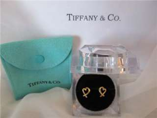 Tiffany & Co. Paloma Picasso 18K Y/G Loving Heart Earrings