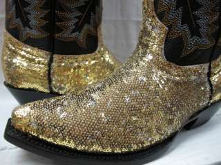 NEW LADIES WOMENS SEQUINS FABOLOUS SHINY BLING WESTERN COWBOY BOOTS