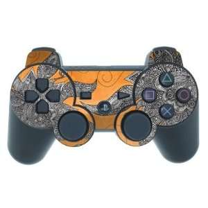 Orange Flowers Design PS3 Playstation 3 Controller