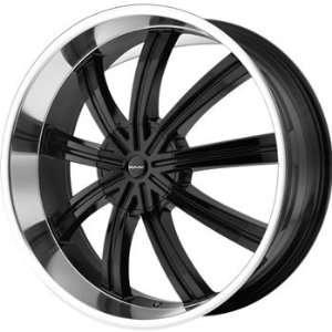 KMC KM672 22x9.5 Black Wheel / Rim 5x4.5 & 5x5 with a 38mm