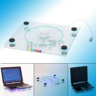 USB 828 One Large Fan LED Light Cooling Cooler Pad for Notebook Laptop