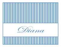 Personalized Classy Stripes Note Cards Stationery