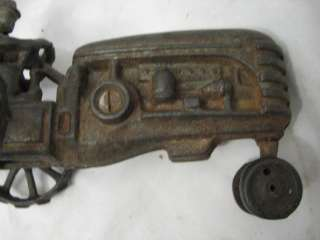ANTIQUE CAST IRON TOY TRACTOR FARM TRACTION ENGINE MASSEY HARRIS
