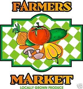 Farmers Market Fruit Vegetable Produce Food Sign Decal