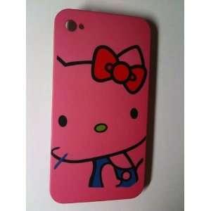 Hot Pink Kitty Designer Snap Slim Back Cover Case for