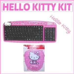 Hello Kitty Pink USB Keyboard + Hello Kitty Pink Mouse Pad