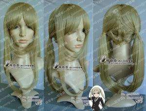 Soul Eater MAKA Cosplay Long Linen Ponytail Wig