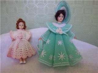Vtg Dolls 10 Plastic Canvas 8 Sleepy Hard Plastic