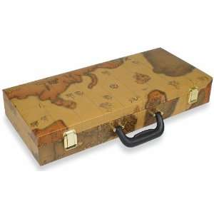 World Map Mah Jong Case Toys & Games