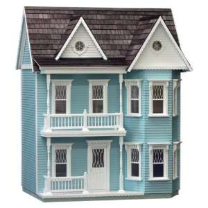 Finished Princess Anne Dollhouse in Blue Toys & Games