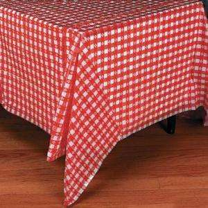 52 Country CHECKERED TABLE COVER Picnic RED WHITE Party Decorations