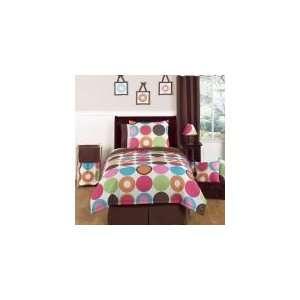 Deco Dot 4 Piece Twin Comforter Set   Girls Bedding: Home