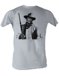 JOHN WAYNE JOHN AND HIS GUN ADULT TEE SHIRT S 2XL