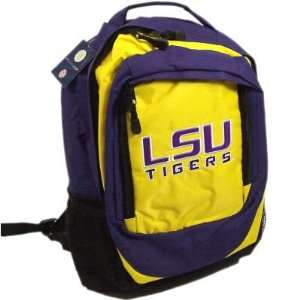 LSU TIGERS OFFICIAL LOGO BACKPACK BACK PACK: Sports