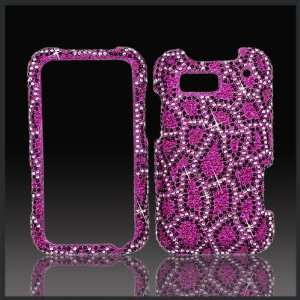 Leopard Cristalina crystal bling case cover for Motorola Defy MB525