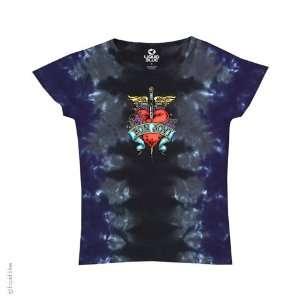 Bon Jovi Dagger Ladies T Shirt (Tie Dye), XL Sports