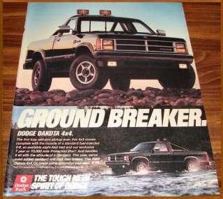 1989 DODGE DAKOTA 4X4 PICKUP TRUCK AD~Ground Breaker