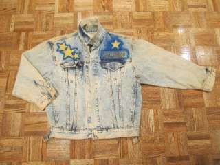 Tony Alamo HOLLYWOOD Denim Jean Jacket Sz Large 16 18 Vtg Handpainted