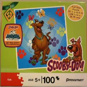 Scooby Doo Butterfly and Paw Prints 100 piece puzzle