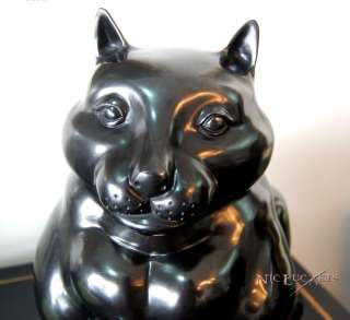 ANTIQUE BRONZE FIGURE CAT SCULPTURE RARE SIGNED BOTERO fonderia M