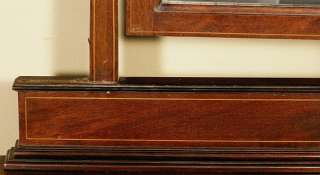 Antique English Mahogany Vanity Dresser Chest w/ Mirror e02b