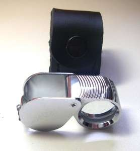 High Quality Folding Jewelers Loupe 10x mag, 21.5mm glass  Comes in a