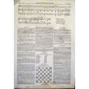 : Music Score Sheet Ballad Loder Thompson Print 1844: Home & Kitchen