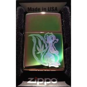 Zippo Custom Lighter   Marijuana Pot SKUNK Weed Ganja Leaf