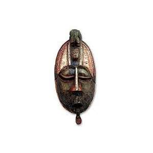NOVICA Ghanaian wood mask, Owo Snake Home & Kitchen