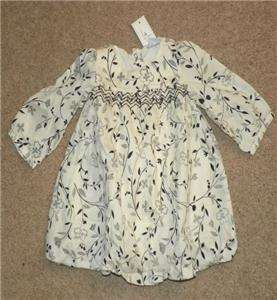 Baby Gap Mercer Street Girls Smocked Bubble Dress Size 3 6 Months NWT