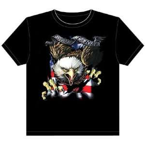 USA Flag Freedom to Ride with Eagle Motorcycle T shirts