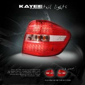 06+ MERCEDES BENZ W164 ML350 ML500 RED LED TAIL LIGHTS