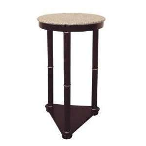 ORE Cherry Round End Table w/ Triangle Base Home
