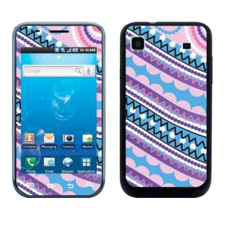 New For Samsung T959 Vibrant Galaxy S Colorful Stripes Sticker Skin