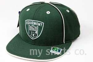 New York Jets NFL Equipment Dark Green White Authentic New Era Fitted