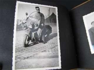 WWII Suede Photo Album Crashed Nazi Plane & Nose Art