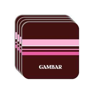 Personal Name Gift   GAMBAR Set of 4 Mini Mousepad Coasters (pink