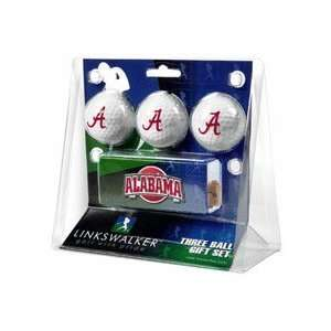 Alabama Crimson Tide 3 Ball Gift Pack with Hat Clip