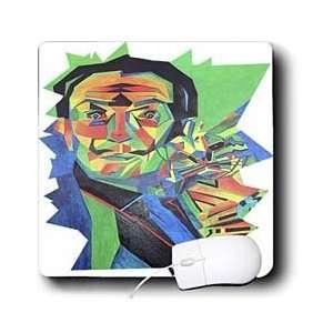 dali, ocelot, portrait, man, male, cat   Mouse Pads Electronics