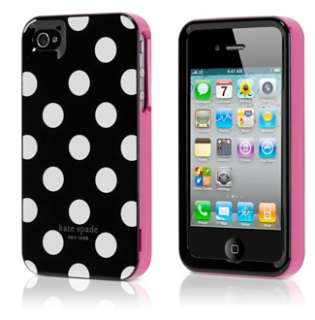 2X white polka dots iphone 4S hard case cover + screen protector NEW