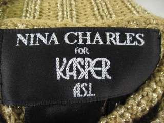 You are bidding on a NINA CHARLES FOR KASPER Gold Turtleneck Sweater