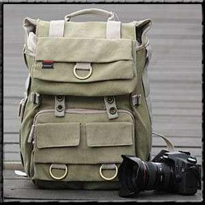 Canvas Camera Laptop Backpack DSLR SLR Canon Nikon Sony