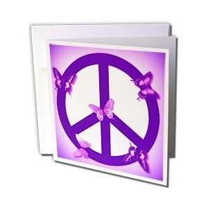 Patricia Sanders Creations   Pink and Purple Peace Sign