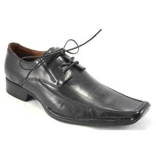 Giorgio Brutini 157481 Black Leather Dress Shoes for Men 7.5M