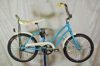 1984 Schwinn Fair Lady Girls Muscle Bicycle Light Blue 20 Wheel Bike