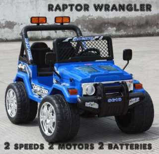 POWER KIDS RIDE ON R/C CAR REMOTE CONTROL BATTERY WHEELS MP3 RC RAPTOR