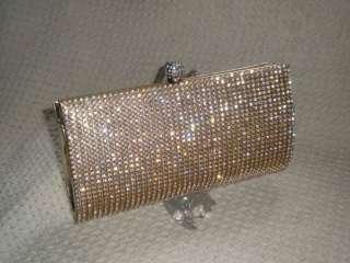 GOLD Crystal Party Evening Clutch Cocktail Handbag